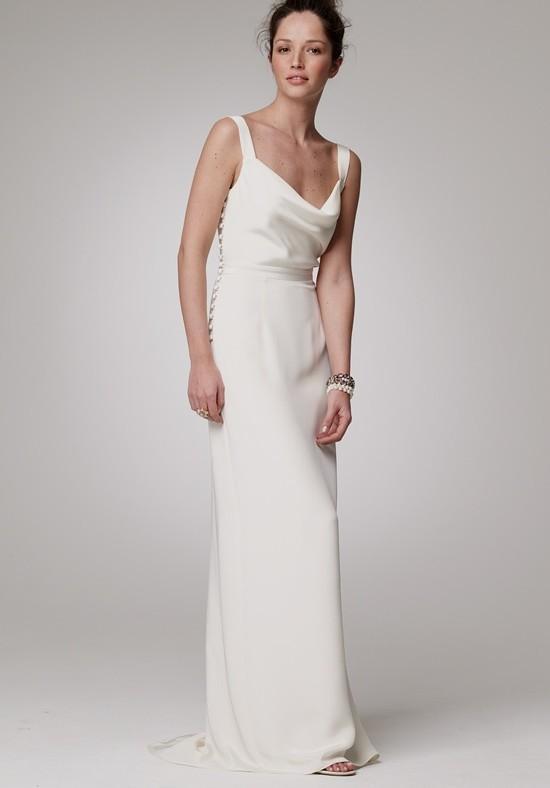 simple second wedding dresses photo - 1