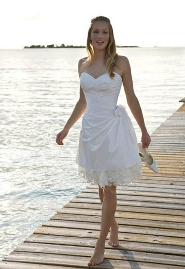simple short beach wedding dresses photo - 1