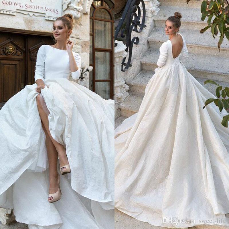 simple short wedding dresses plus size photo - 1