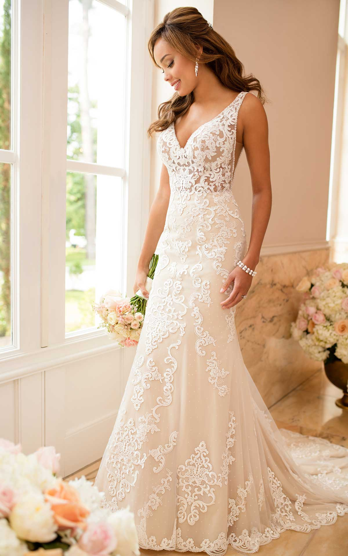 simple wedding dresses for beach wedding photo - 1