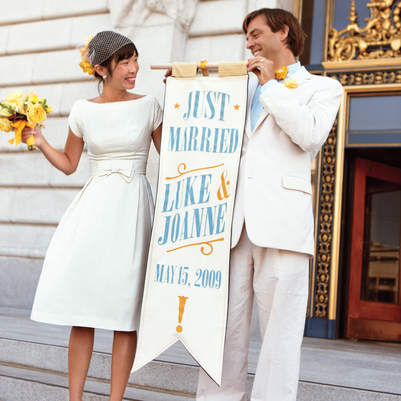 simple wedding dresses for courthouse wedding photo - 1