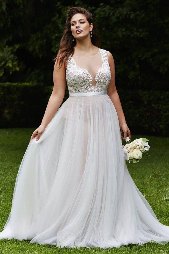 simple wedding dresses plus size photo - 1
