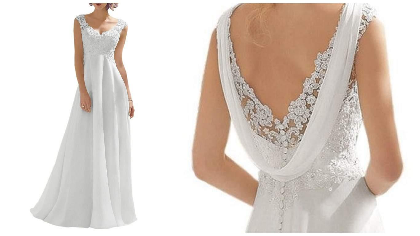 simple wedding dresses under 100 photo - 1