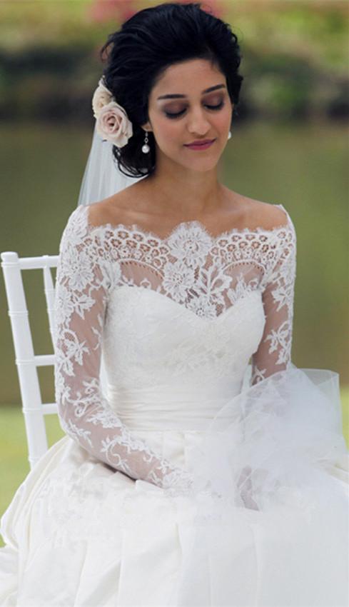 simple white wedding dresses photo - 1