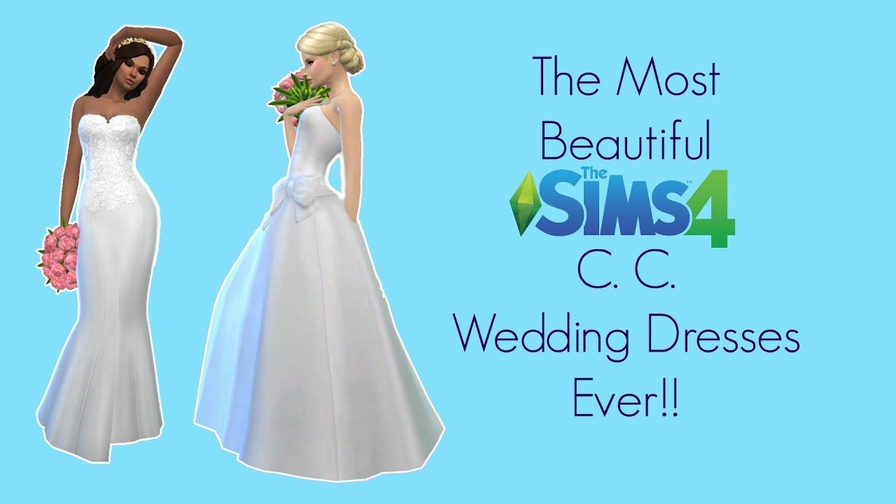 sims 4 cc wedding dresses photo - 1