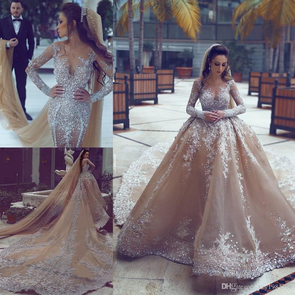 sleeves for wedding dresses detachable photo - 1