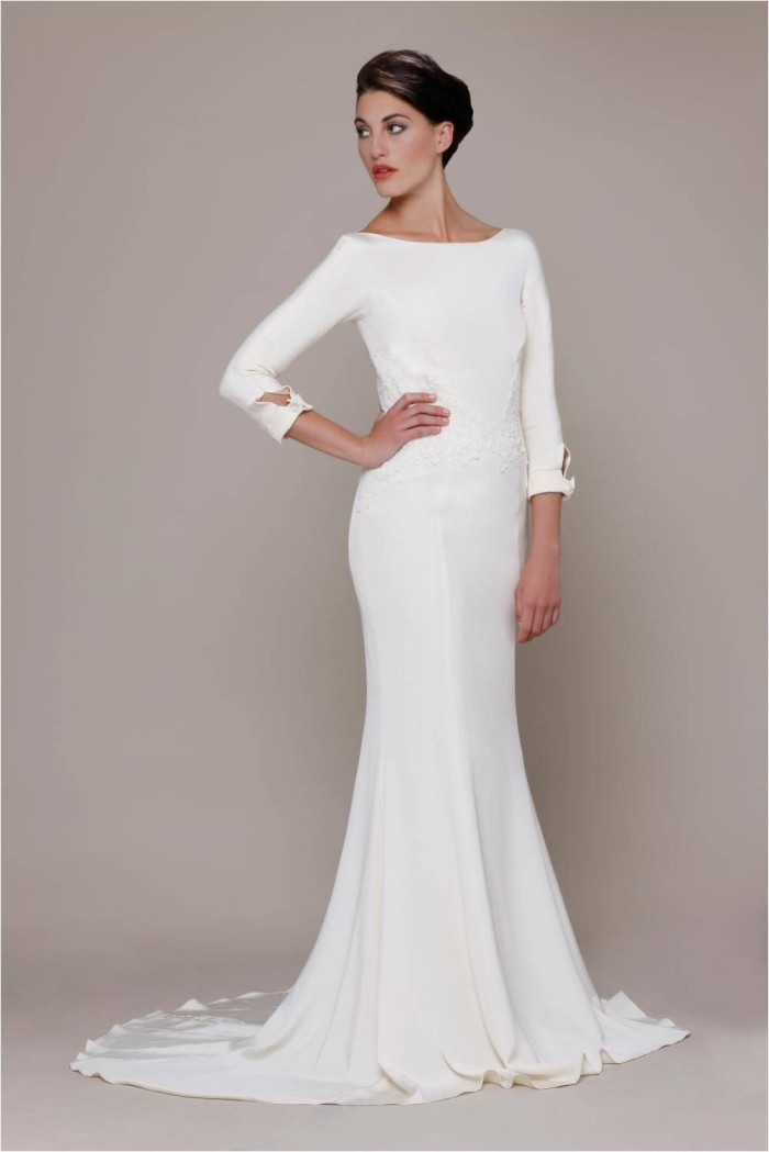 slim wedding dresses photo - 1