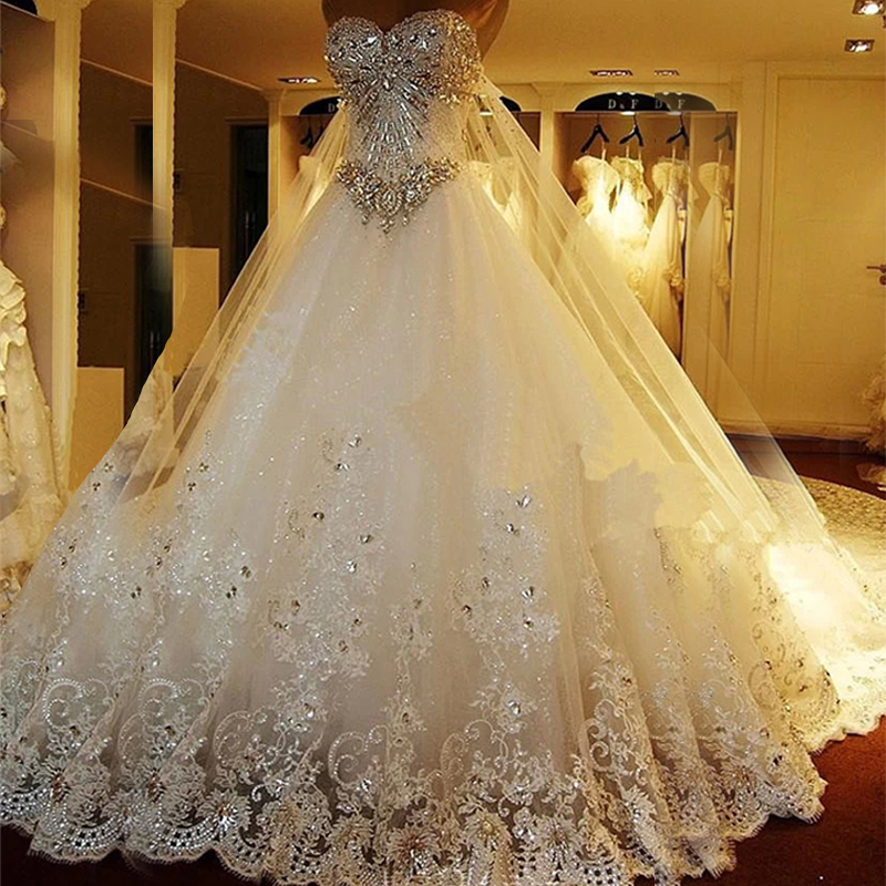 sparkly princess wedding dresses photo - 1