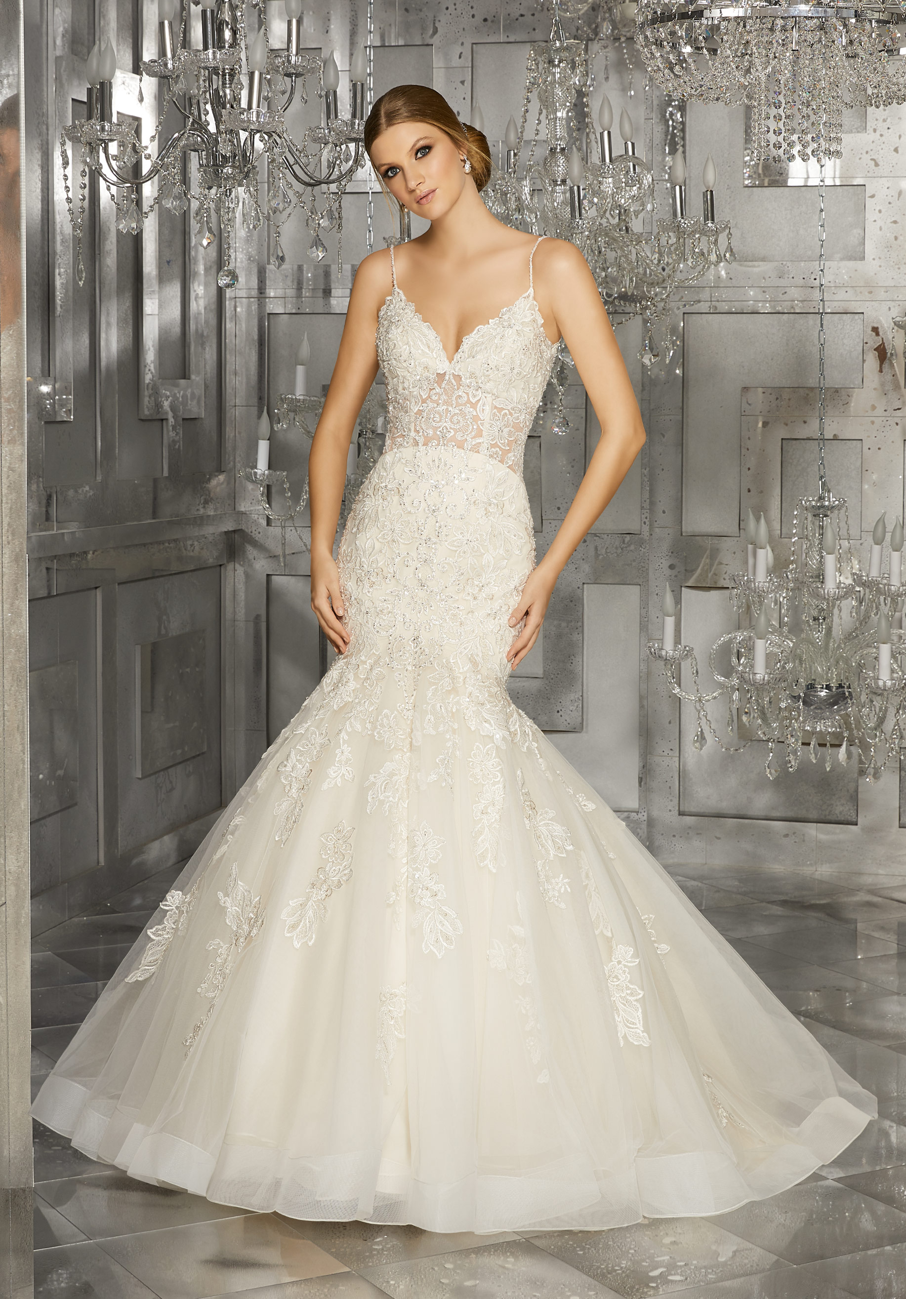 straight wedding dresses photo - 1
