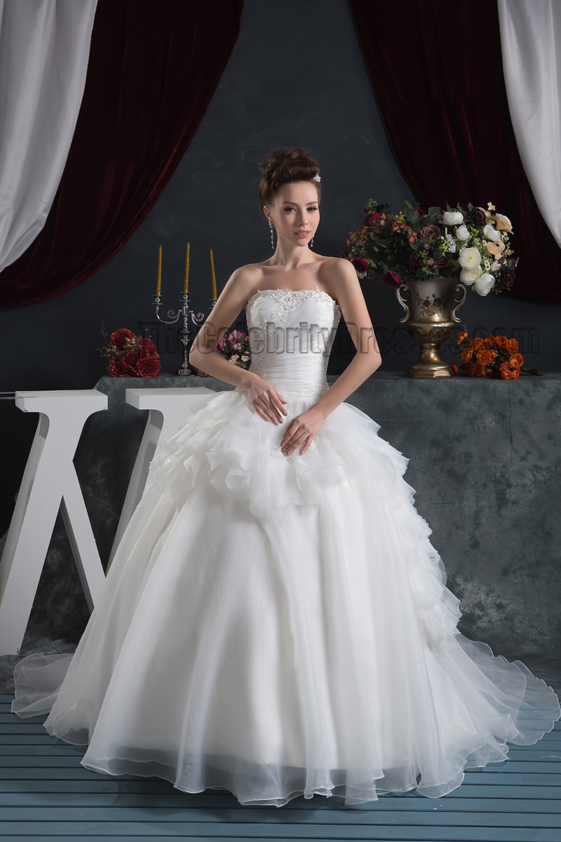 strapless ball gown wedding dresses photo - 1