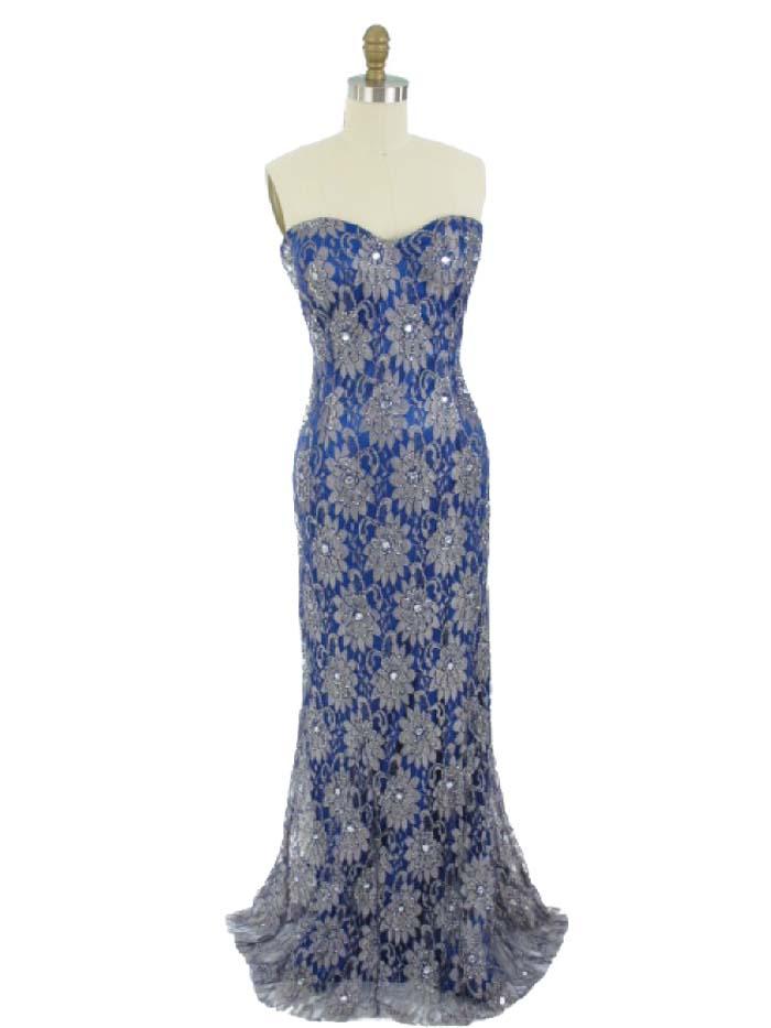 strapless evening dresses photo - 1