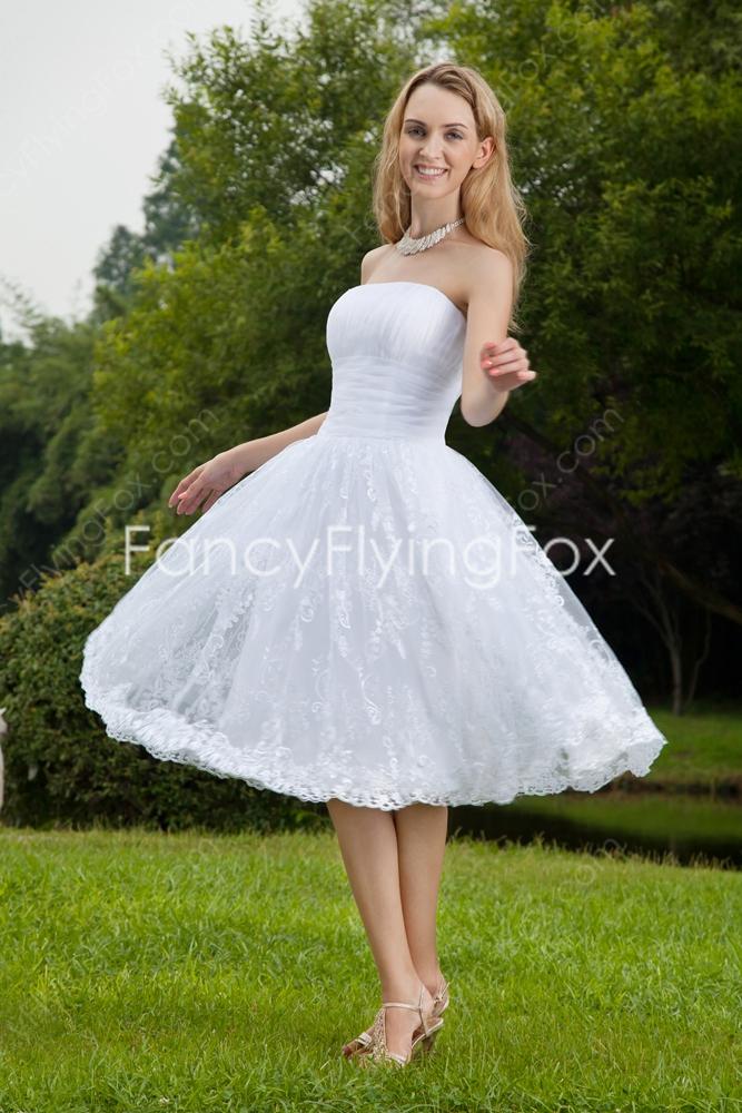 strapless puffy wedding dresses photo - 1