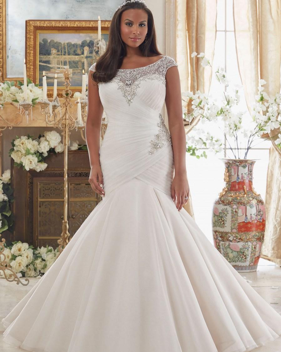 strapless satin wedding dresses photo - 1