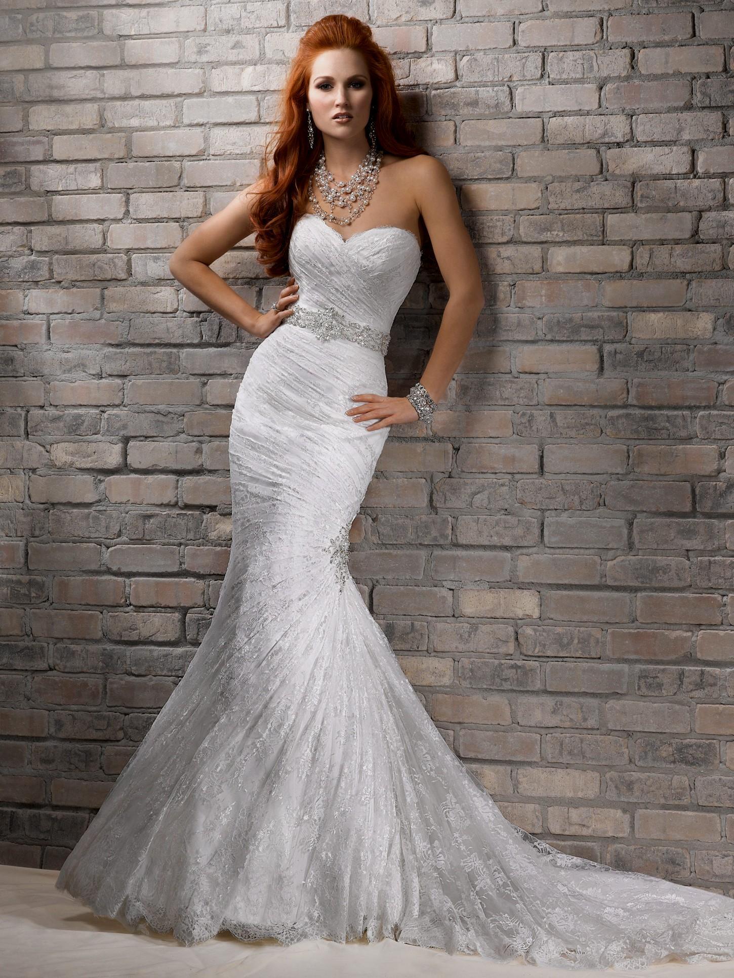 strapless sweetheart mermaid wedding dresses photo - 1