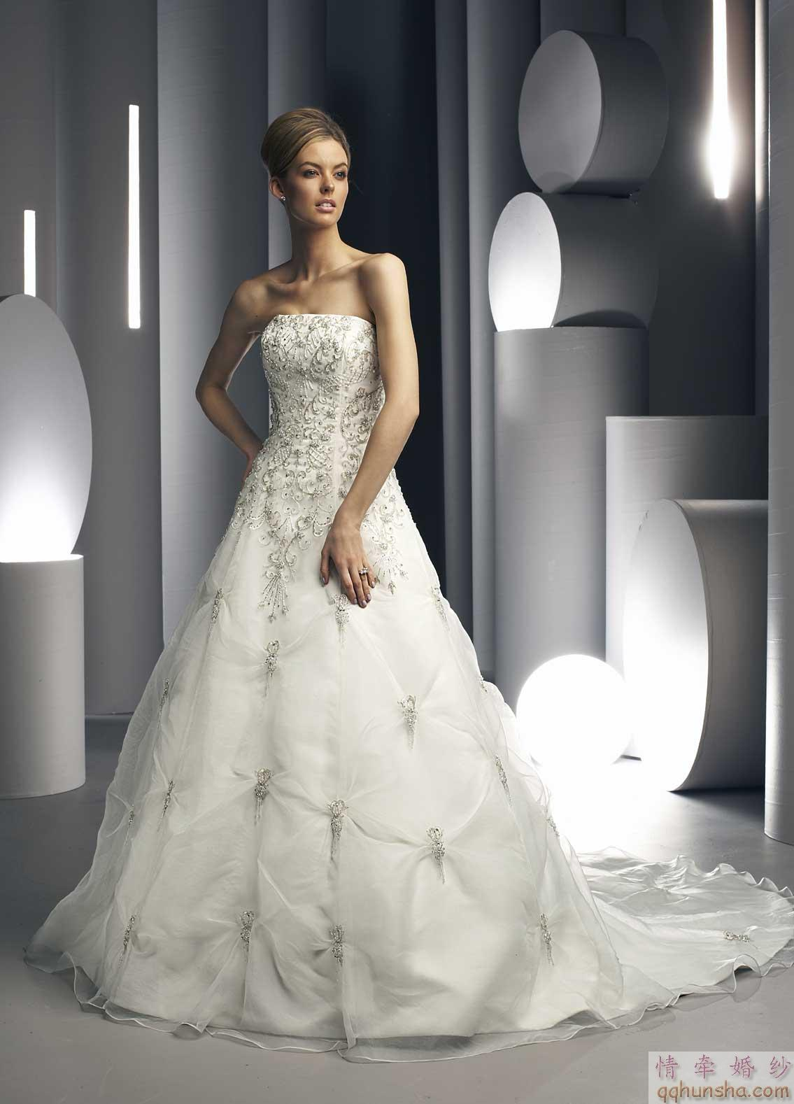 strapless sweetheart wedding dresses photo - 1