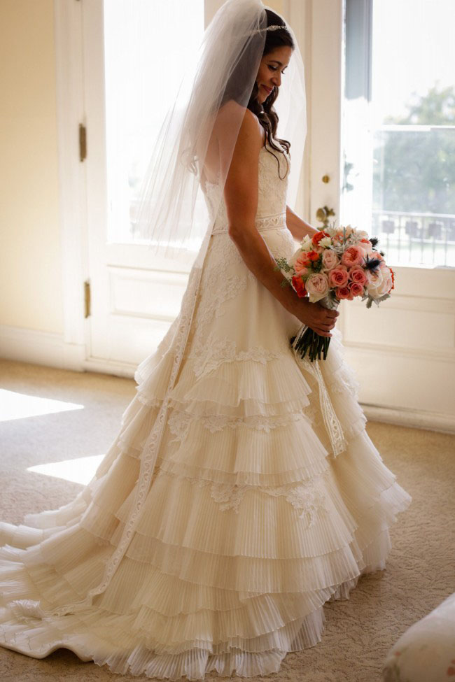 strapless wedding dresses with bling photo - 1