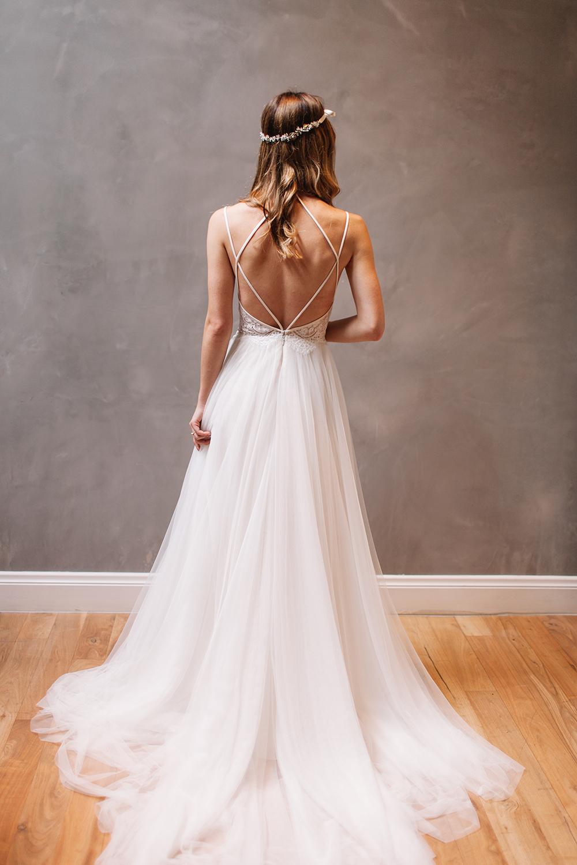 strappy wedding dresses photo - 1