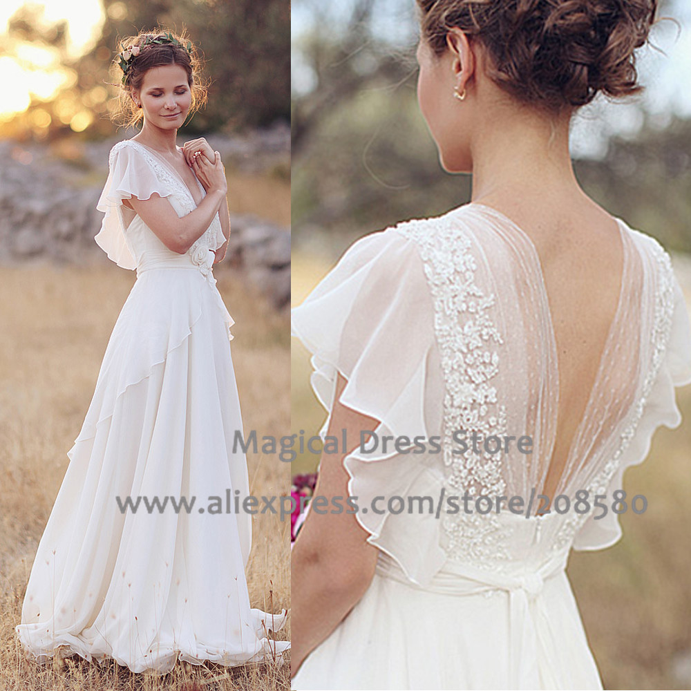 summer country wedding dresses photo - 1