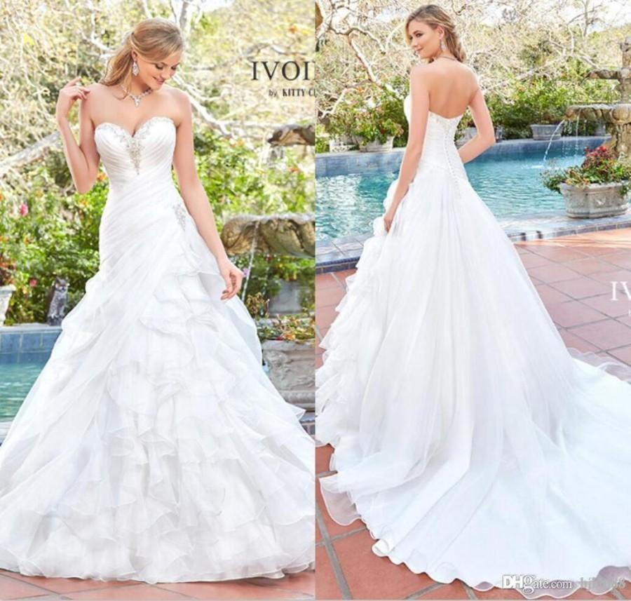 sweetheart a line wedding dresses photo - 1