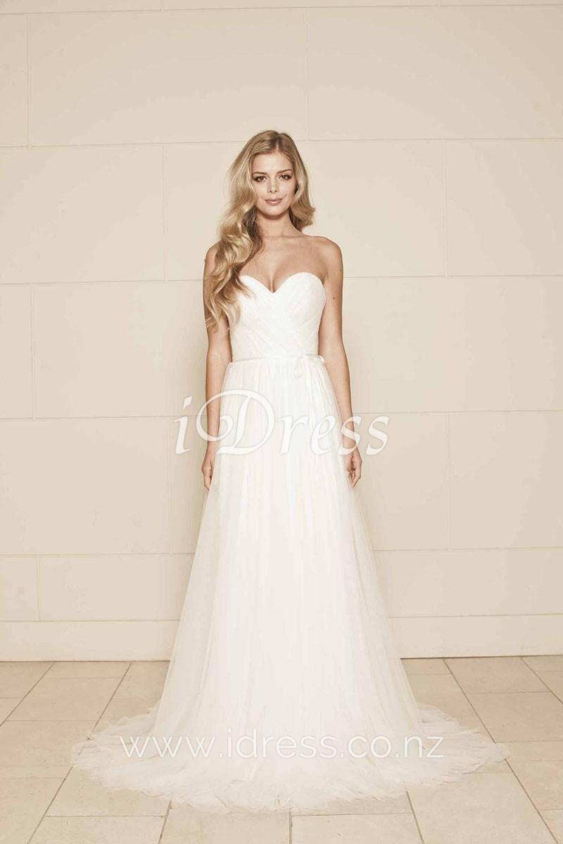 sweetheart aline wedding dresses photo - 1