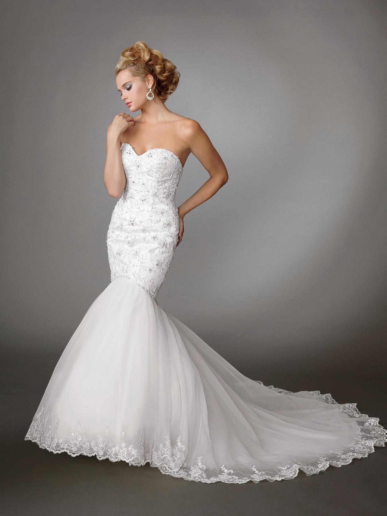sweetheart mermaid wedding dresses photo - 1