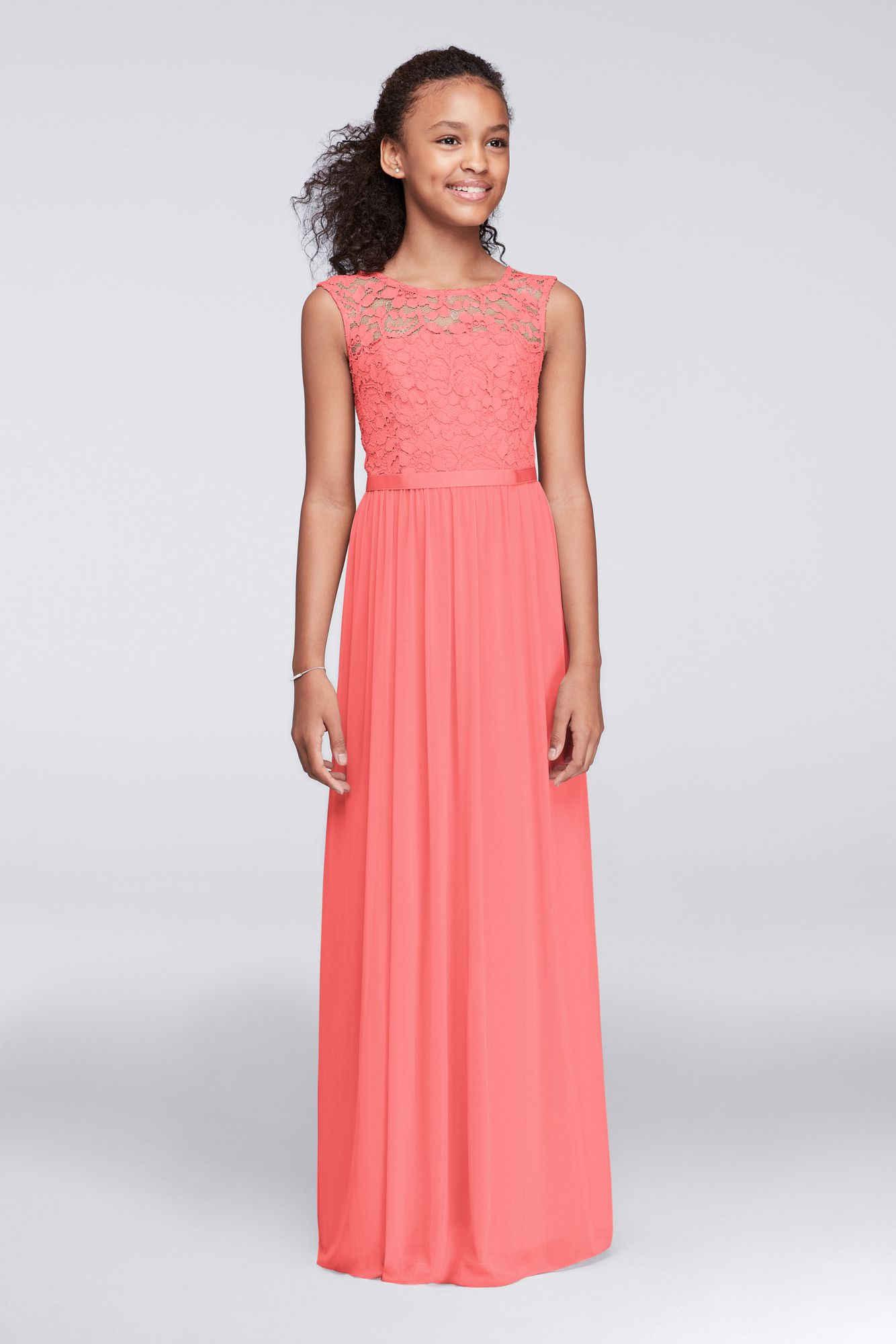 tangerine dresses for wedding photo - 1