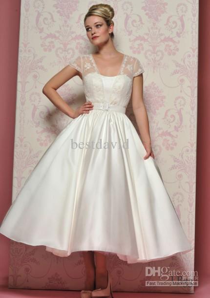 tea lenght wedding dresses photo - 1