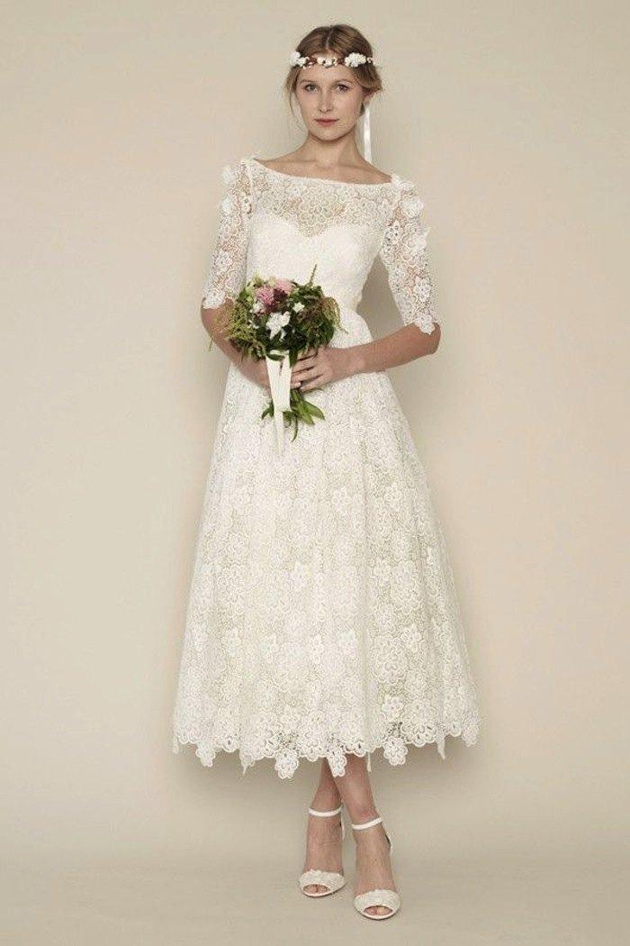 tea length dresses for wedding photo - 1