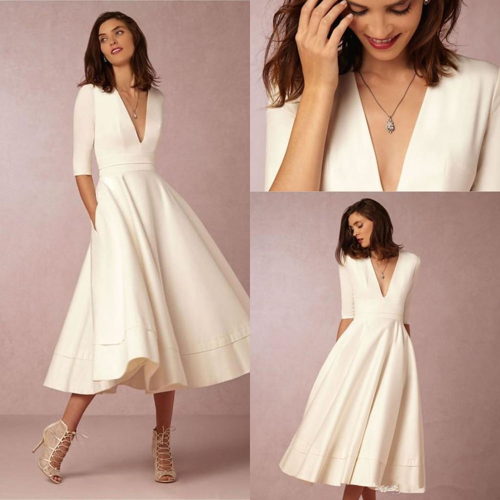 tea length dresses for wedding guest photo - 1