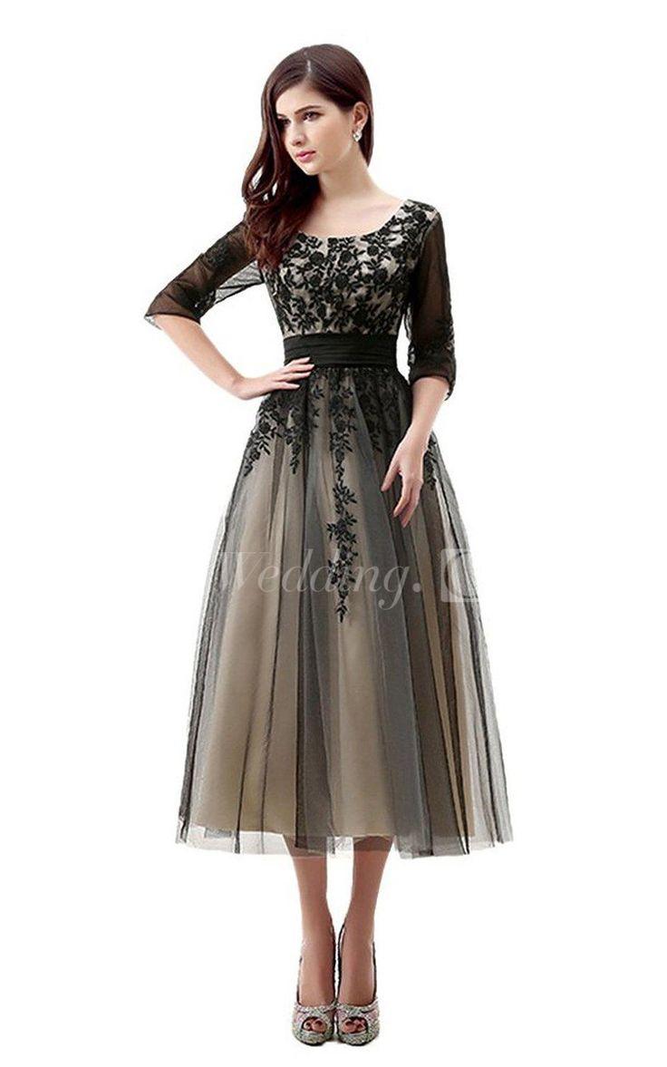 tea length dresses for wedding guests photo - 1