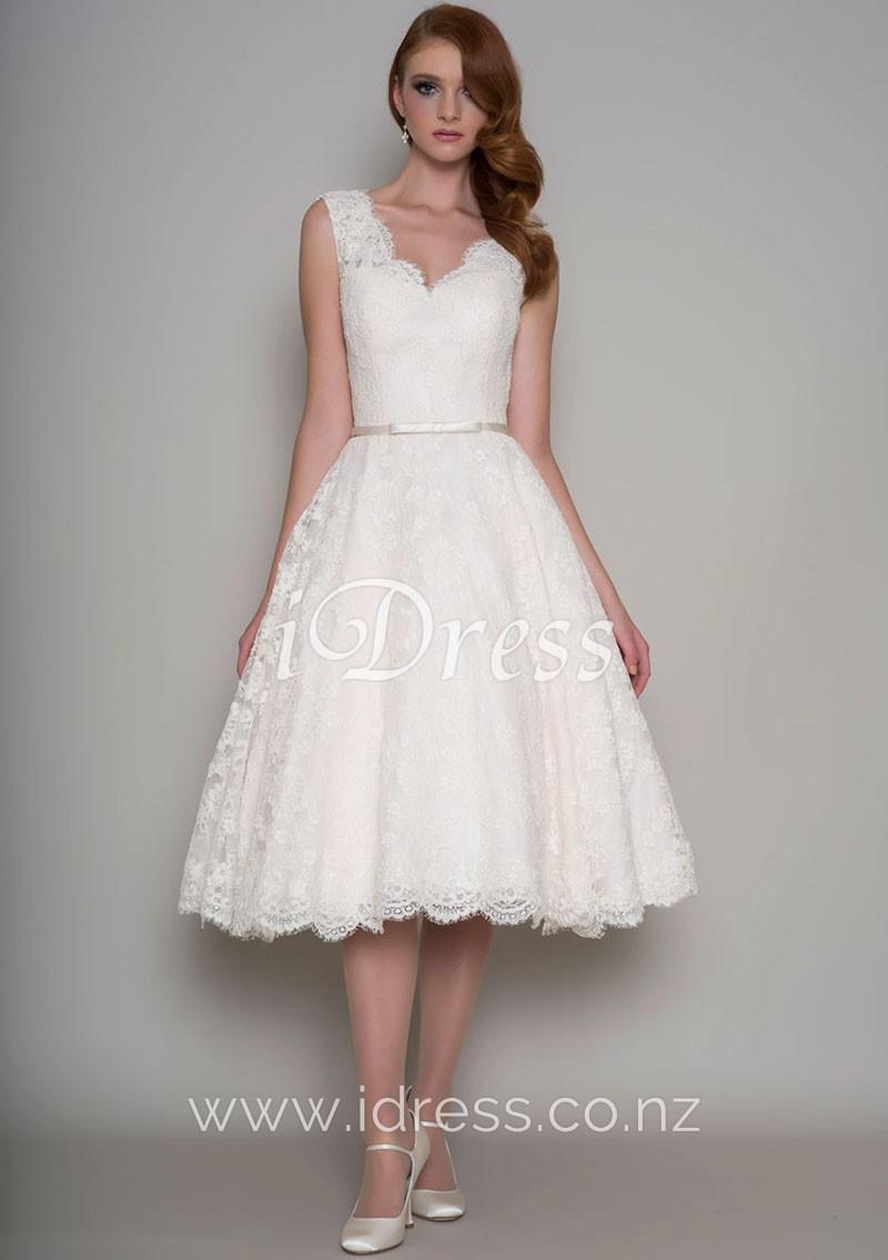 tea length dresses wedding photo - 1