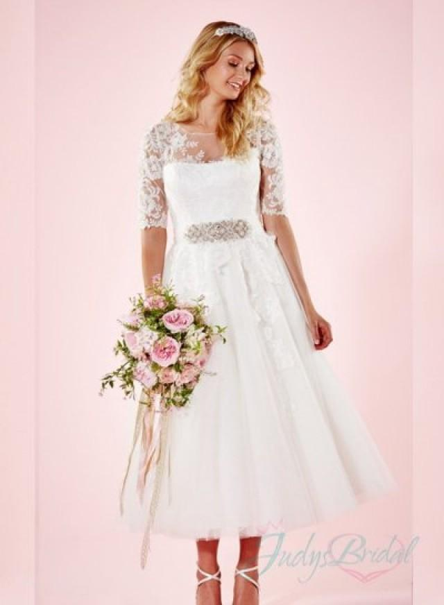 tea-length wedding dresses photo - 1