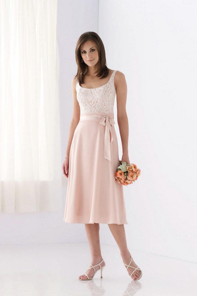 tea length wedding dresses for older brides photo - 1
