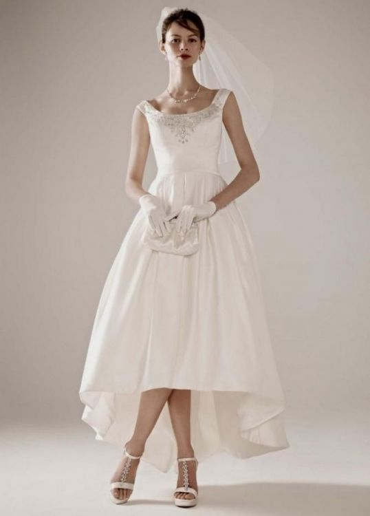 tea length wedding guest dresses photo - 1