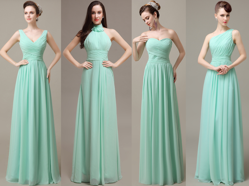 teal dresses for wedding photo - 1