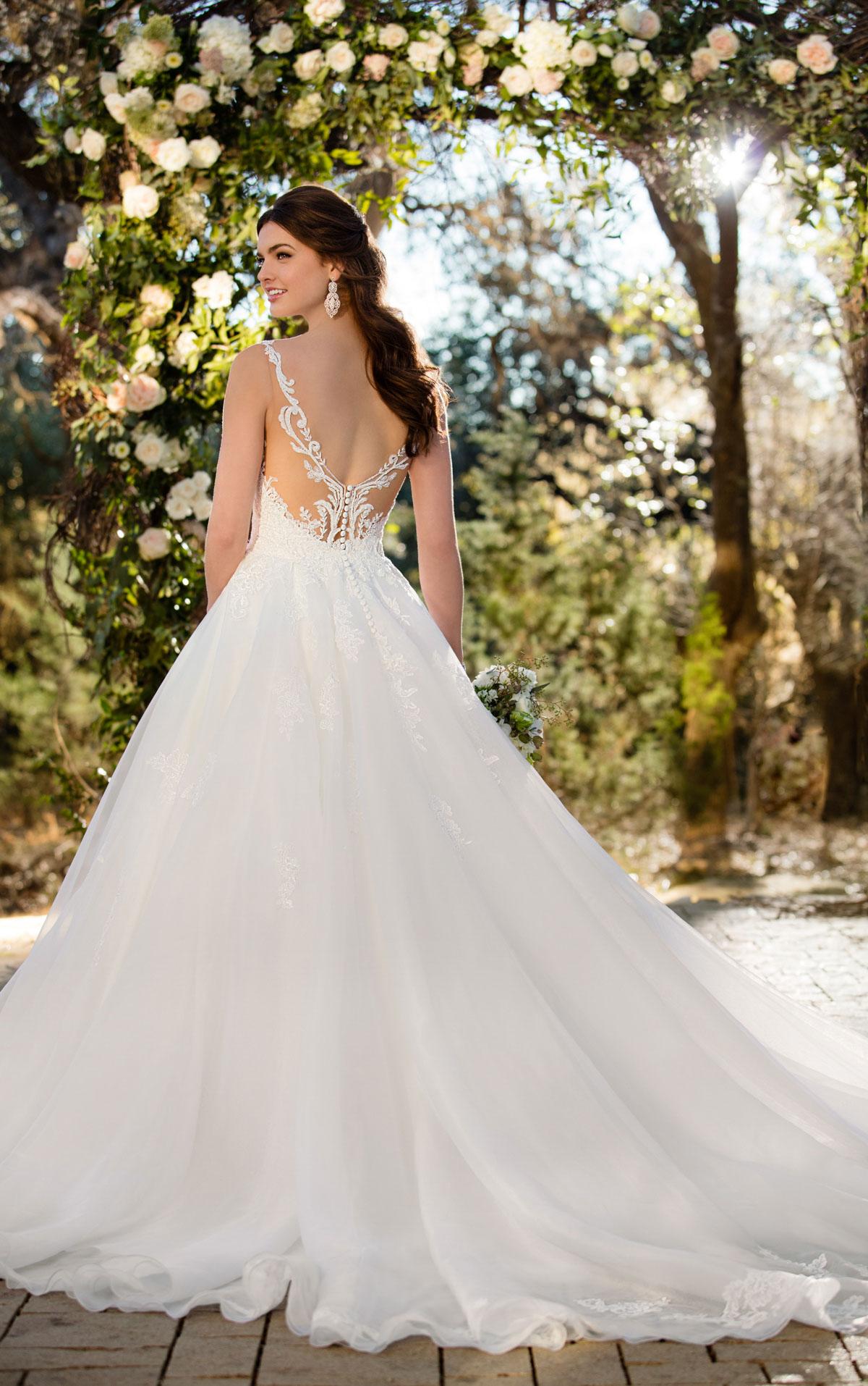 textured wedding dresses photo - 1