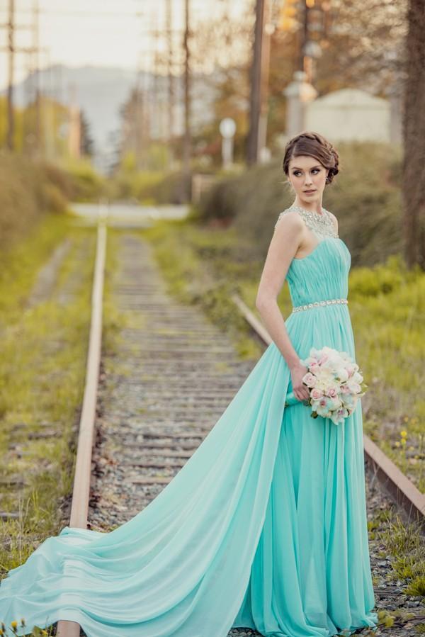 tiffany blue dresses for wedding photo - 1