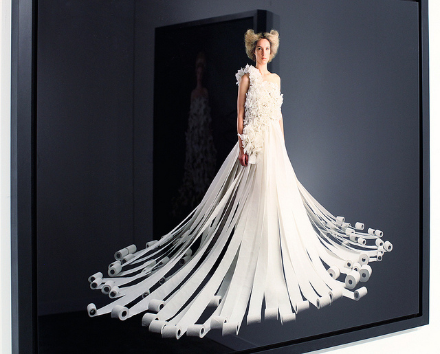 toilet paper wedding dresses photo - 1