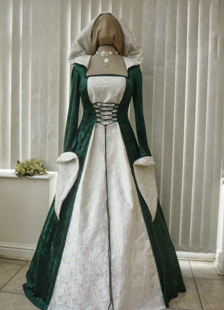 traditional celtic wedding dresses photo - 1