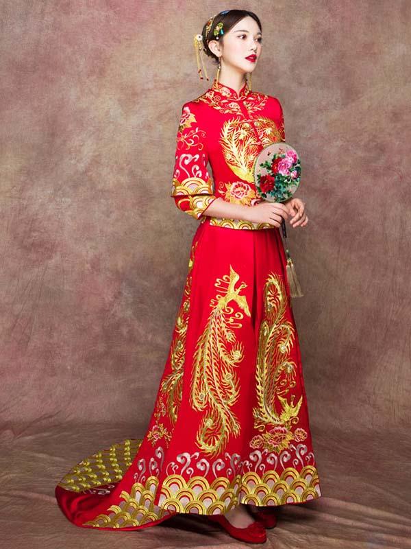 traditional chinese wedding dresses photo - 1