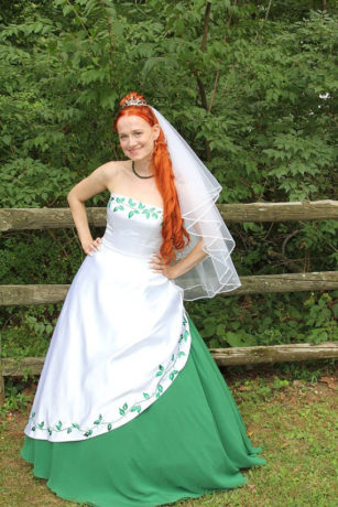 traditional irish wedding dresses photo - 1