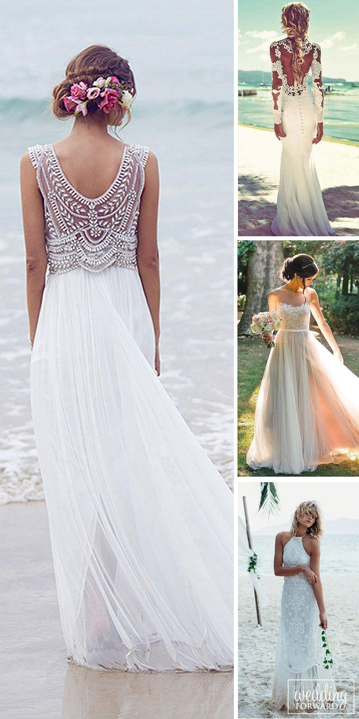 tropical beach wedding dresses photo - 1