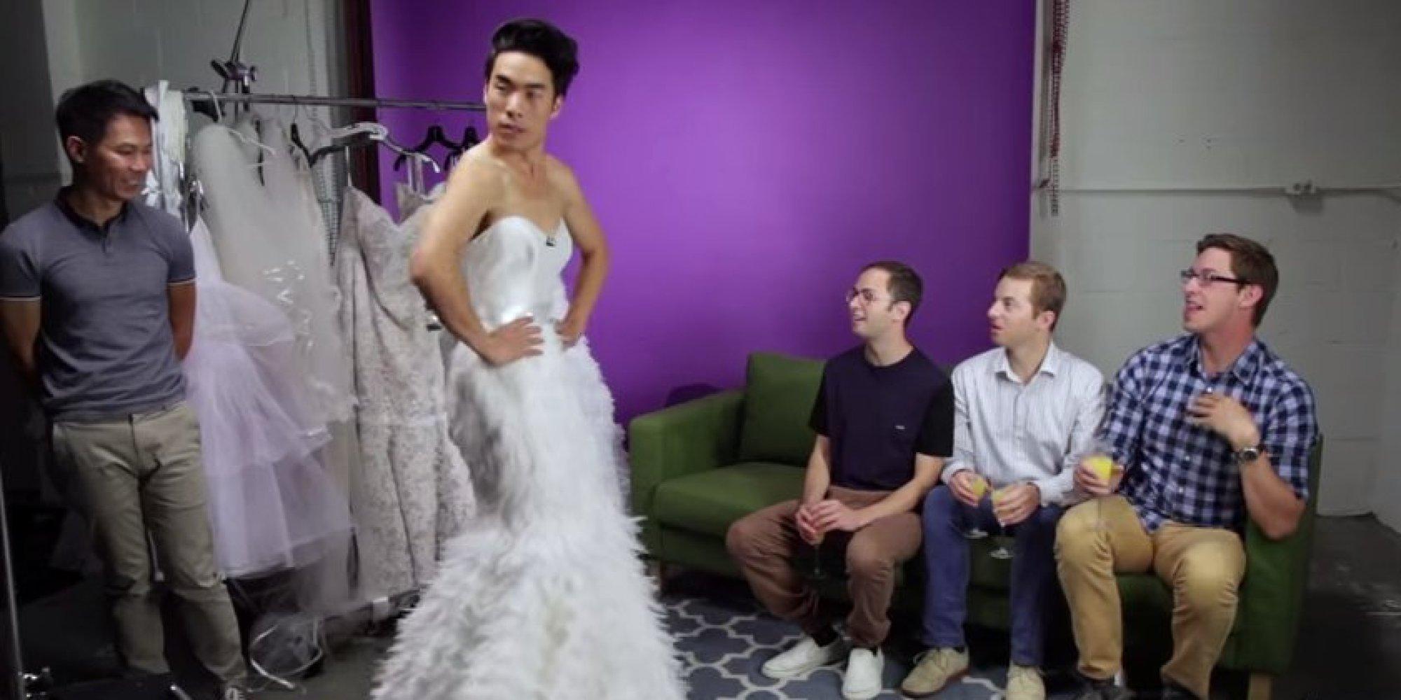 try guys wedding dresses photo - 1