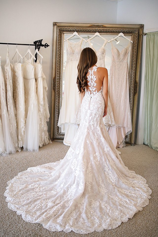 try on wedding dresses photo - 1