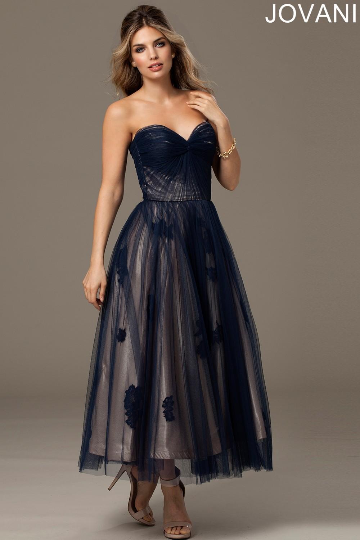 tulle tea length wedding dresses photo - 1