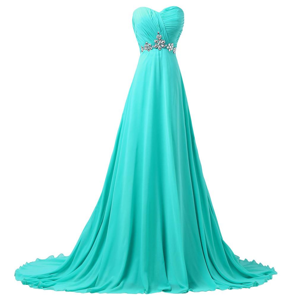 turquoise wedding dresses for bridesmaids photo - 1