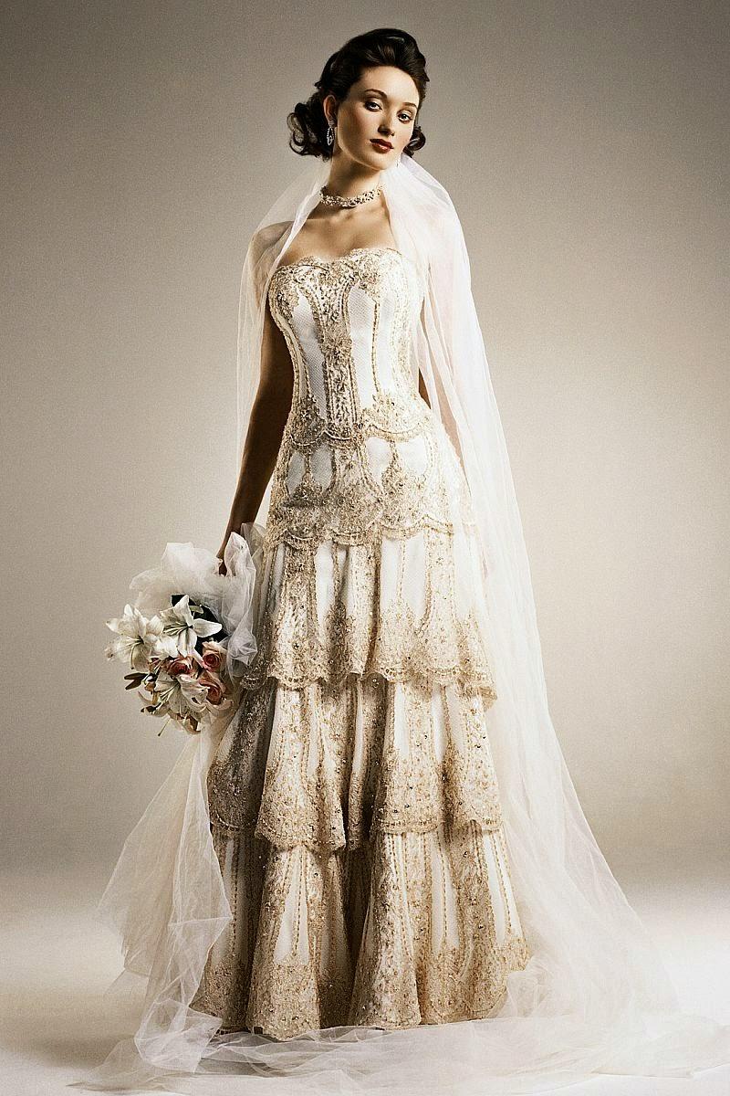 unique vintage wedding dresses photo - 1