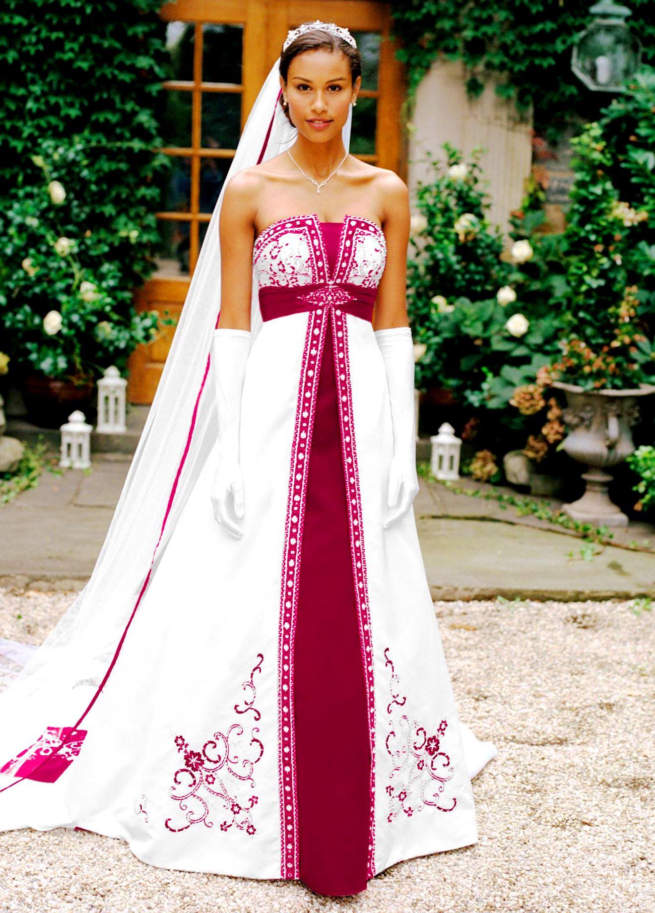 unique wedding dresses with color photo - 1