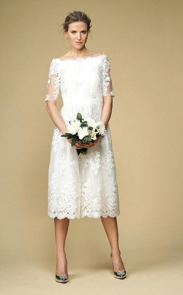 unusual wedding dresses for older brides photo - 1
