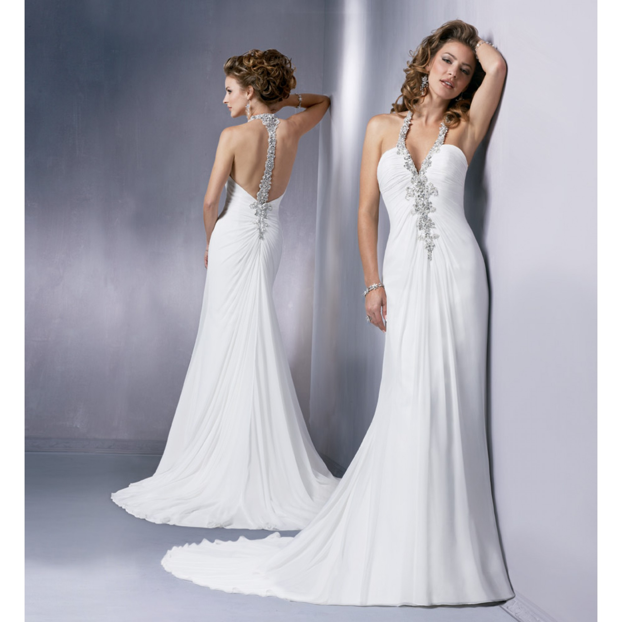 used beach wedding dresses photo - 1